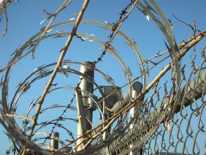razor blade fence