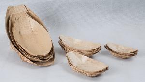 bamboo leaf boat plate spoon
