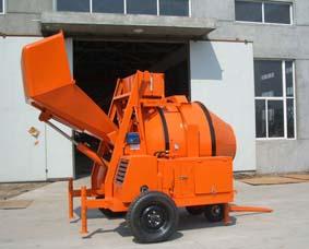 2 bag cement diesel concrete mixer hydraulic loading