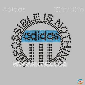hotfix rhinestone motif adidas hotifx pattern