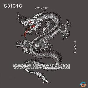 iron motif dragon hotfix motifs heat transfer picture