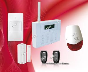 gsm wireless wired home alarm system