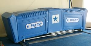 brs260 carpet washing machine railed system