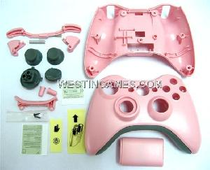 housing shell case microsoft xbox 360 wireless controller pink