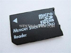 microsd tf ms memory stick pro duo reader adapter 16gb