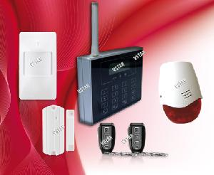 gsm wireless wired home security alarm system