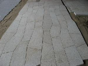 templated pavers photo shows