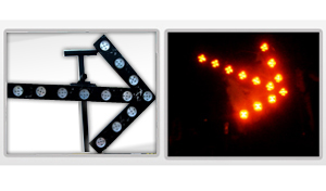 solar temporary arrow