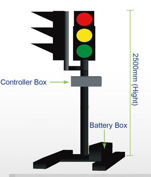 temporary traffic light