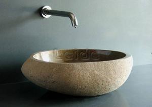 cobble stone bowl basin sink ld d008