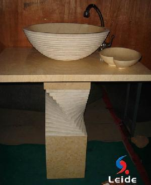 marble countertop pedestal sink ld f038