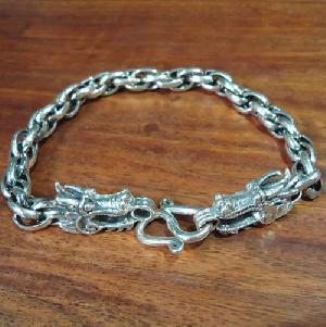 tibetan stirling silver dragon bracelet