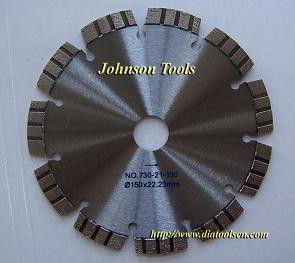 laser welded diamond turbo segment blade