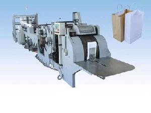 reel roll fed square bottom paper bag machine equipment