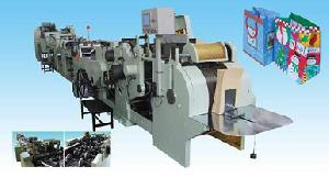 sheet feeding square bottom paper bag machine equipment