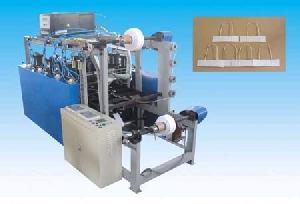 square bottom paper bag handle machine equipment