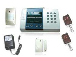 wireless alarm system 5 led display defense zone