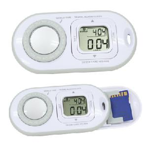 Digital World Time Clock With Sd Card Est009w