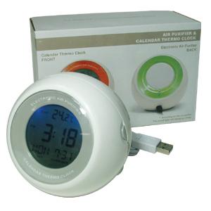 usb personal air purifier alarm clock temperature indicator