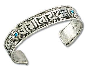 tibetan silver om mani padme hum bracelet