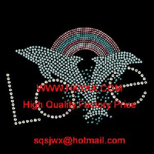 dolphin hotfix strass pattern rhinestone motif