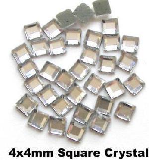 hotfix rhinestone square 4x4 crystal strass