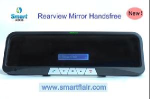 bluetooth handsfree car kit mirror