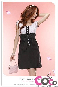 button belt waist dress