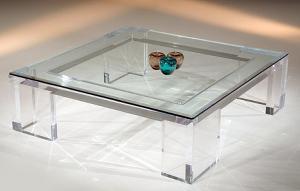 acrylic coffee table j916221