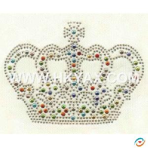 crown rhinestone fix hotfix motif
