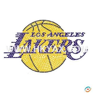fix rhinestone pattern los angeles lakers nab logo motif