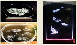3d mini crystal laser engraving machine