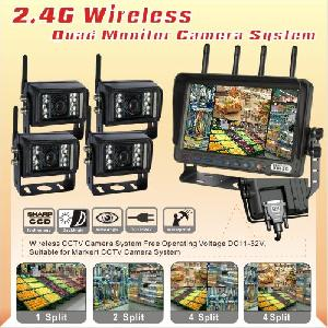wireless rear view backup reverse camera system 7 lcd quad monitor agriculture farm tractor