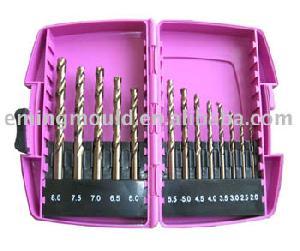 cobalt 5 spiralbor din338 værktøj sæt bore plastikboks