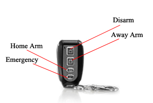 wireless remote controller keyfob burglar alarm system vstar security