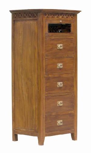 mahogany chest five drawers bedroom java indonesia kiln dry solid
