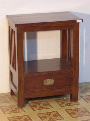 mahogany minimalist bedside night stand 1 drawer solid wooden indoor furniture java indonesia