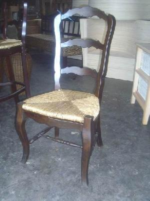 mahogany rattan dining chair wooden woven indoor furniture