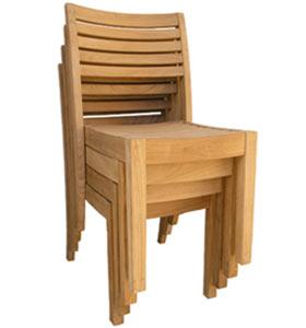 europe teak stacking chair arm rest teka outdoor garden furniture java indonesia
