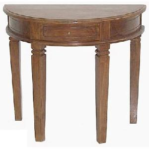 solid mahogany half moon table wooden indoor furniture living room
