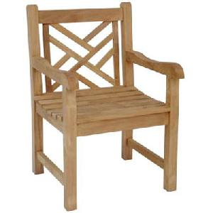 teka lattice cross arm chair teak outdoor garden furniture java indonesia