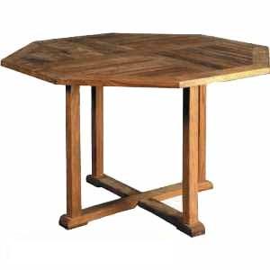teak octagonal hamburg dining table knock teka outdoor garden furniture java indonesia