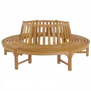 teak tree round seat bench elegance benches knock teka outdoor garden furniture