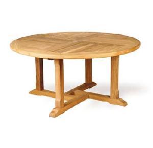 teka cakar round dining table knock teak outdoor garden furniture solid kiln dry