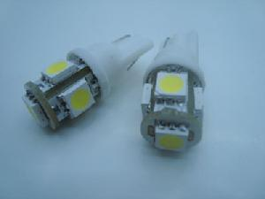 2x 3 chips 5 smd led light bulb 194 w5w t10