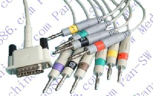 hp phillips 10 leads ecg cable banana