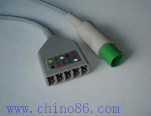 hellige five ecg trunk cable