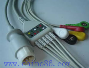 hp philips five patient monitor ecg cable leadwire