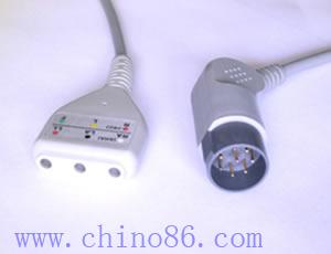 nihon kohden 3 patient monitor ecg trunk cable