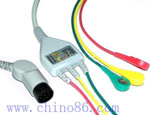 nihon kohden 3 patient monitor ecg cable leadwire